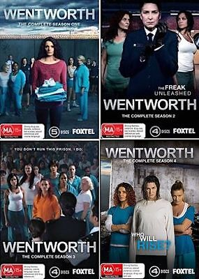 WENTWORTH : Season 1 2 3 4 : NEW DVD