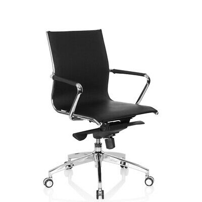 Office Chair Executive Chair Black PU-Leather Chrome Armrests PATMOS hjh OFFICE