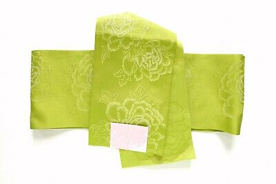 Japanese Hanhaba Obi Belt for Kimono Green T26