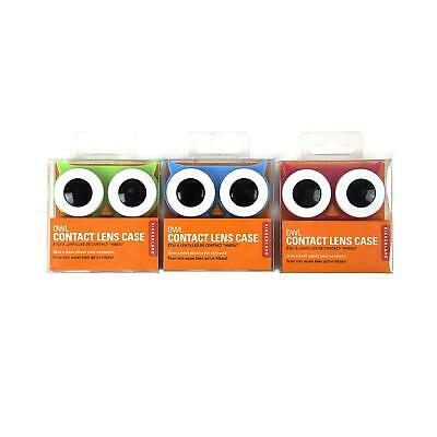 Kikkerland Assorted Owl Contact Lens Travel Case Colourful Quirky Optical Gift