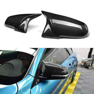3D CARBON FIBER Wing MIRROR Cover For BMW F20 F22 F30 F31 1 2 3 4 SERIES OEM-Fit