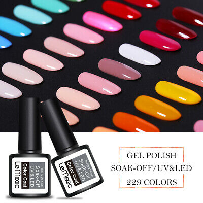 LEMOOC Nail Art Gel Color Polish Soak-off UV/LED  DIY Gel Varnish 8ml