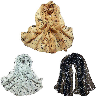 1PC Women's Four Seasons Ultra-thin Chiffon Scarf Ornament Notes Chiffon Scarf