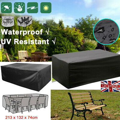 Extra Large Garden Rattan Outdoor Furniture Cover Patio Table Protection Black_G