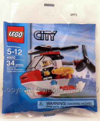 Lego City Fire Department Fireman & Helicopter 4900