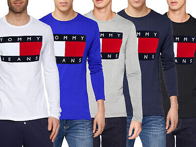 Tommy Hilfiger 90s Classic Flag Long Sleeve T Shirt For Men