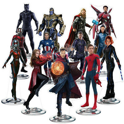 2019 Marvel The Avengers Acrylic Standing on the base iron-Man Captain America