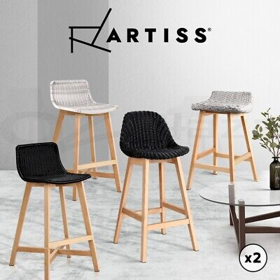 【20%OFF$119.12】Outdoor Bar Stools Chairs Kitchen Stool Wooden Barstools Wicker