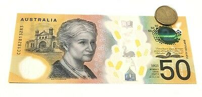 RARE new $50 AUD note spelling errors no longer production NEAR MINT CONDITION
