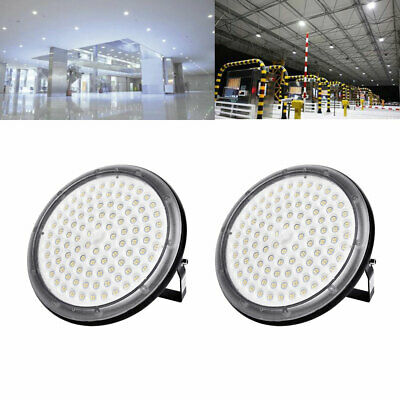 2X 100W UFO DEL High Bay Light Industriel Lampe Entrepôt Commercial éclairage