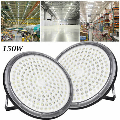 2X 150W UFO DEL High Bay Light Industriel Lampe Entrepôt Commercial éclairage