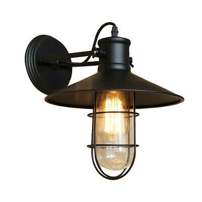 Vintage Industrial Metal Water Pipe Steampunk Wall Lamp Sconce Light Fixture New