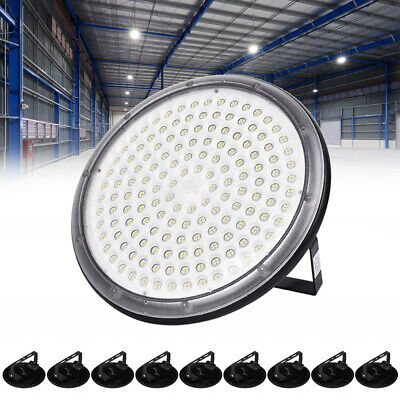 10X 150W UFO DEL High Bay Light Industriel Lampe Entrepôt Commercial éclairage