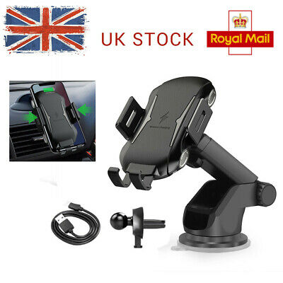 Qi Wireless Car Charging Automatic Clamping Charger Phone Holder Car Windscreen