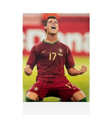 7e4dcf072 Cristiano Ronaldo Signed Photo - 2006 FIFA World Cup Goal Portugal vs Iran