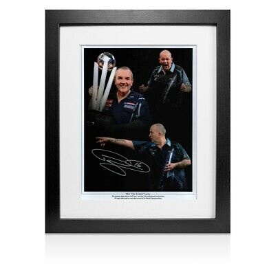"""Framed Phil Taylor Signed Photo - Phil """"The Power"""" Taylor Autograph"""