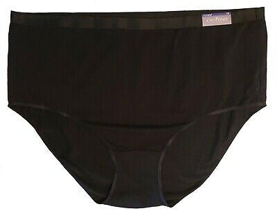8079e2af92e6 Catherines Intimates Women's Black Panties Size 15 Full Brief LOT OF 2 NWT