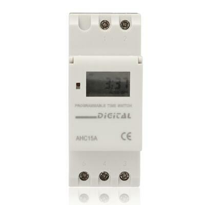 AC 220V 16A Digital LCD DIN Programmable Weekly Rail Timer Time Relay Switch EV