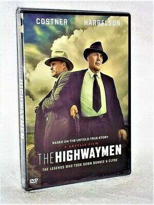 The Highwaymen (DVD, 2019) NEW Kevin Costner Woody Harrelson bonnie & clyde
