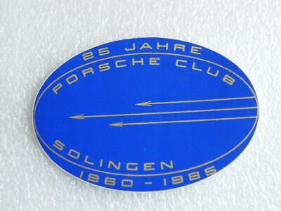 PORSCHE  Club - SOLINGEN- Aufkleber-Sticker - Autocollant - 125mmx87mm