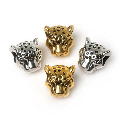 10pc/set Antique Buddha Leopard Lion Heads Beads Charms DIY Craft Jewelry Making