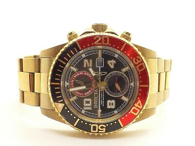 Invicta 18518 Gold Tone Red Accent Pro Diver 200m Analog Watch