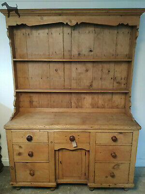 Beautiful, Rustic Antique Victorian Pine Kitchen Country Dresser