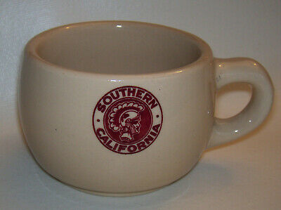 Vintage USC Southern California Trojan Restaurant Ware Wallace China Coffee Cup