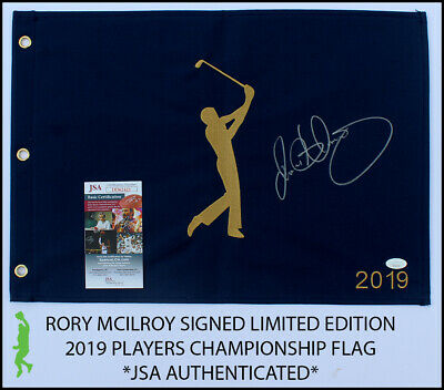 Flags Rory Mcilroy Autographed Signed 2019 Players Championship Pin Flag Jsa Coa