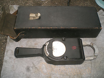 Vintage GE  clamp meter with case   600v 150A Volt Amp  Model 8AK1AAA1