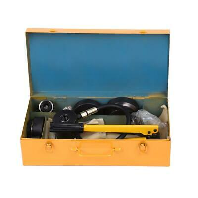 15 Ton Hydraulic Metal Steel Plate Hole Punch Set Hand Pump with 10 Dies Tool