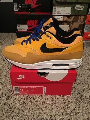 best website 61efb 8bc0d Nike Air Max 1 Premium Size 11 University Gold white-Black Bv1254 700