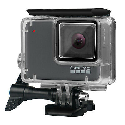 Waterproof Housing Case for GoPro Hero 7 White/Silver Underwater Dive Case Shell