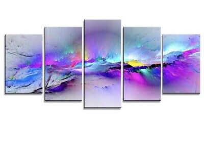 UNIQUE/ Framed 5 pcs Changing Colors Giclee HD Print Wall Art Modular Pictures