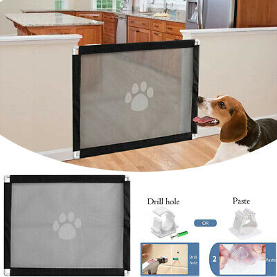 Retractable Folding Pet Dog Gate Safety Guard Baby Toddler Stair Isolation UK