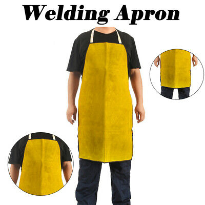 Welders Blacksmith Welding Apron Protective Gear Apron Leather Tan Heavy Duty