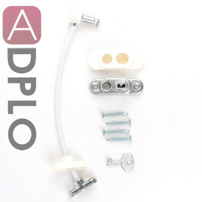 3x Security Window and Door UPVC lock Restrictor for Baby and Child Safety Cable