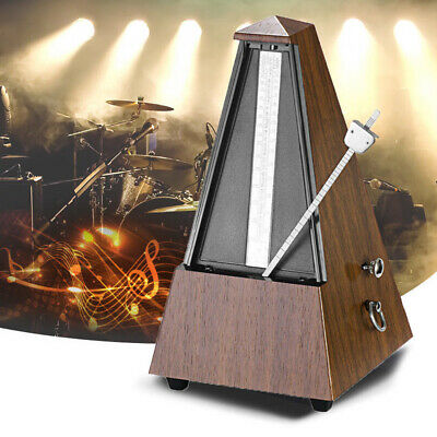 Wooden Antique Mechanical Metronome Tempo Guitar Piano Violin Music Timer w Bell