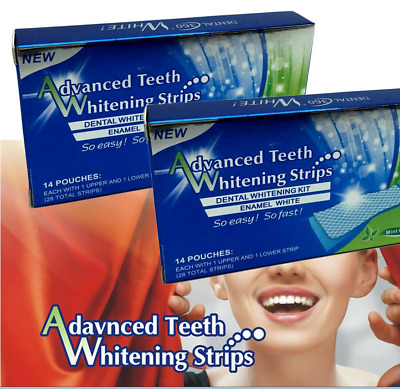 Advanced Professional Teeth Whitening Strips 14 Pouches =28 Strips