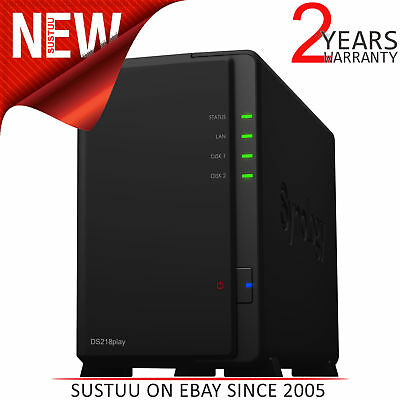 Synology DiskStation DS218play 2-Bay Desktop NAS Enclosure│For Multimedia