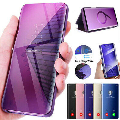 For Samsung Galaxy S105G/A30 A50 A40 A70 360 Clear View Wallet Mirror Case Cover