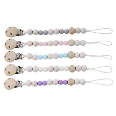 Baby Pacifier Clip Chain Holder Dummy Holder Soother Clips Leash Strap DP