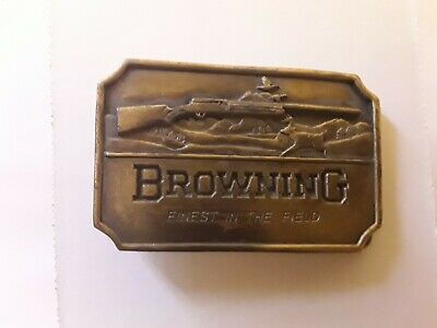 Browning Belt Buckle . Collectible . Hunting . Indiana Metal Craft .