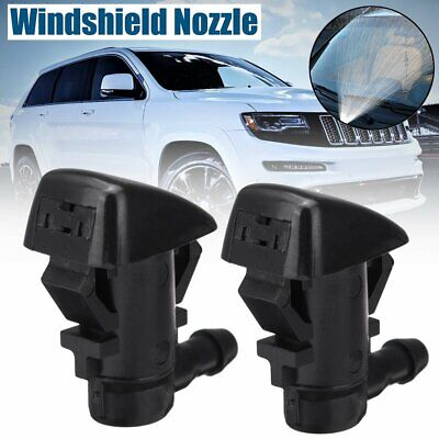 2x For Jeep Grand Cherokee 2005-2018 Windshied Wiper Washer Spray Nozzles