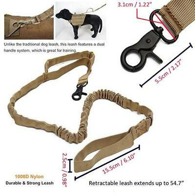 Police Style Dog Training Lead Obedience Leash Multi-Functional 1000D Nylon DP