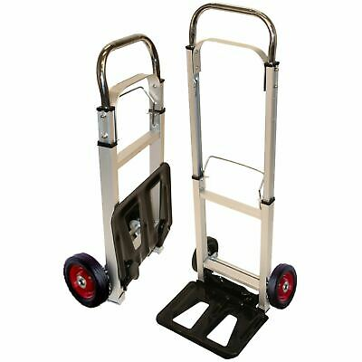 Rhyas Strong Aluminium Lightweight Telescopic Folding Sack Truck Trolley Cart