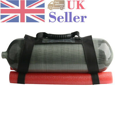 Red Sponge Protection Squat Bag for 9L Dot 4500PSI Scuba Diving Air Tank UK