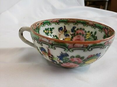Superb antique chinese famille rose tea cup, ca. 1950s