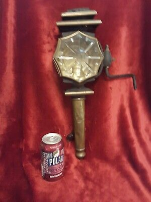 """Antique Brass Architectural Carriage  Lamp Glass 18"""" Electrified Top Off"""