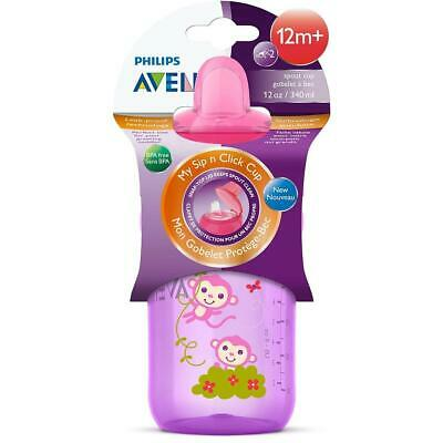 Philips AVENT BPA Free My Sip N Click Cup, 12oz - Pink , Styles May Vary